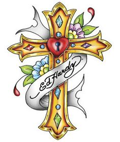 Ed hardy cross wallpaper Ed Hardy Tattoos, Christian Audigier, Skull Tattoos, Body Art Tattoos, Tatoos, Ed Hardy Designs, Cross Drawing, Don Ed Hardy, Cross Wallpaper