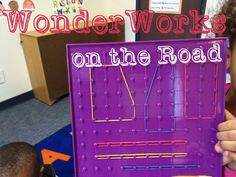 Can WonderWorks be used for outreach visits? Today's Topic: Shapes Supplies: Geoboards Rubber bands Book: Shape up, pup! Steam Activities, Math Activities, Stem Steam, Simple Machines, Engineering, Neon Signs, Science, Technology, Young Children