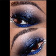Perfect smokey eyes by QueenofBlending using #Sugarpill Bulletproof and Velocity eyeshadows with #litcosmetics glitter!