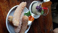 Terra Plata, Seattle, Washington — by Emily C. Sleepless In Seattle, Good Find, Huckleberry, Seattle Washington, Churros, Flan, Around The Worlds, Breakfast, Desserts