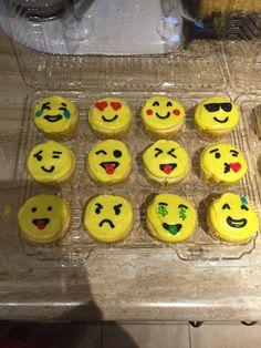 Emoji buttercream cupcakes