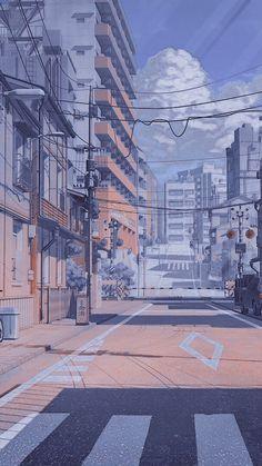 Light Blue Aesthetic, Blue Aesthetic Pastel, City Aesthetic, Aesthetic Colors, Aesthetic Pictures, Aesthetic Anime, Whats Wallpaper, City Wallpaper, Anime Scenery Wallpaper