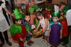 Ludhiana, July 12, 2013: Maple Bear Canadian Playway & Nursery School, Udham Singh Nagar, Ludhiana presented vegetable modelling by wearing cutouts of vegetables on Friday. Read More: http://www.cityairnews.com/content/maple-bear-presents-vegetable-modelling