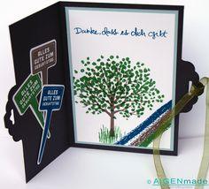 Geburtstagskarte Mann Birthday card man Stampin up Geburtstag Grün blau grau green blue