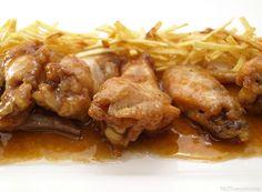 Alitas de pollo con salsa de soja, miel y limón - MisThermorecetas.com