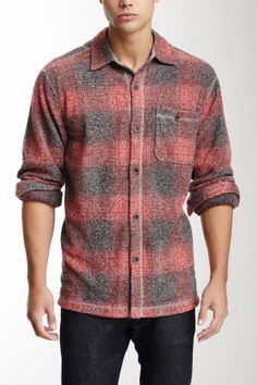 Melange Blur Plaid Big Shirt