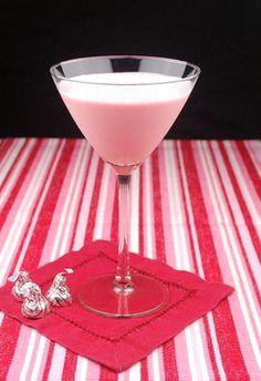 Pink chocolate martini ..