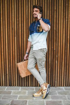 Great outfit from @marianodivaio #voileblancheshoes #nohowshirt