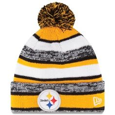 5c2a8ab2a Pittsburgh Steelers New Era On-Field Sport Sideline Cuffed Knit Hat – Gold  Pittsburgh Steelers