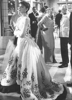 "Photographed on the set of ""Sabrina"", 1954"