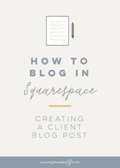 Having extensive experience blogging in both Wordpress and Squarespace,  I've got to tell ya, blogging in Squarespace just wins for me. On Wordpress  I lived in a constant state of worrying that I was going to break something  (mostly because I completely clueless on how the system worked, despit