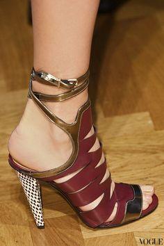 maroon sandals photo