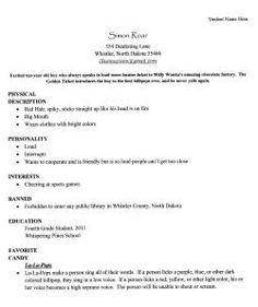 resume character traits