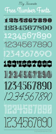 My Favorite Free Number Fonts! - The Paper Mama