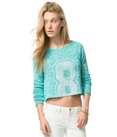 8 Cropped Knit Top - Aeropostale