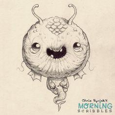 Happy guppy. #morningscribbles