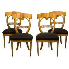 Suite of Biedermeier Chairs | From a unique collection of antique and modern chairs at http://www.1stdibs.com/furniture/seating/chairs/