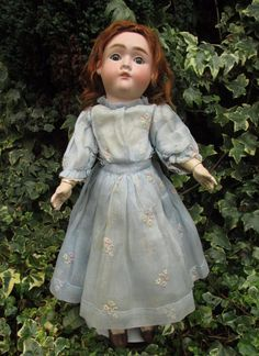 Beautiful Antique Max Handwerck Bisque Head Doll 18  Germany