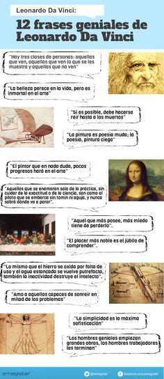 En el aniversario de su nacimiento....12 grandes frases del maestro Leonardo (la 4ª mi fav.)