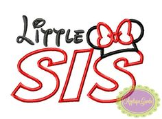Little Middle Big Sister Ms Mouse Machine Embroidery Applique Design