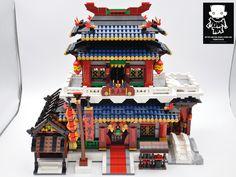 Ancient Chinese Architecture, Japan Architecture, Modern Architecture House, Futuristic Architecture, Modern Houses, Lego Tree, Lego Boards, Lego Building Blocks, Amazing Lego Creations