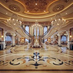 12 Iconic Contemporary Interior Designs Luxury Staircase, Fountain, and Chandelier Mansion Interior, Luxury Homes Interior, Luxury Home Decor, Home Interior Design, Room Interior, Interior Ideas, Luxury Staircase, Staircase Design, Luxury Homes Dream Houses