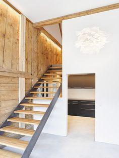 ArchitekturfotografieUmbau Bauernhaus, Schwab Architektur Divider, Stairs, Room, Furniture, Home Decor, Farm Cottage, Real Estates, Architecture, Bedroom