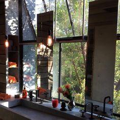 My barn bathroom. Santa Barbara.   Tom Kundig architect. Olsen Kundig.