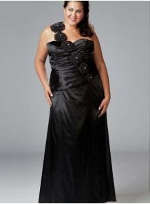 MAGDALENA - Evening dresses Plus size Sheath/Column Floor length Stretch satin One shoulder Occasion dress