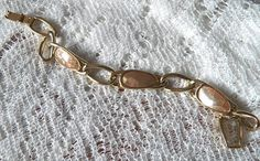 Beautiful Silver Tone and Pink Shell Liz Claiborne by ShazStuff