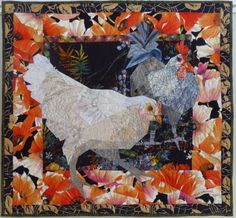 Chickens in the Poppy Patch made by Ruth McDowell