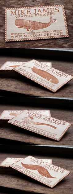 Balsa Wood Business Cards by Mike James