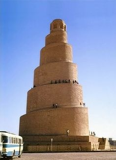 Minaret at the Great Mosque of Samarra. IgorF • CC BY-SA 3.0