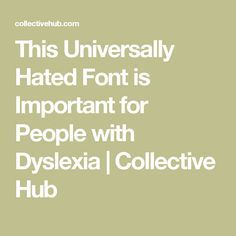 Comic Sans is one of the more divisive fonts. For some, it's considered unprofessional at best and tacky at worst, and has often been used by passive-aggressive Teaching Tools, Teaching Kids, Dyslexia Strategies, Reading Process, Dyscalculia, Passive Aggressive, Conflict Resolution, Learning Disabilities, Comic Sans