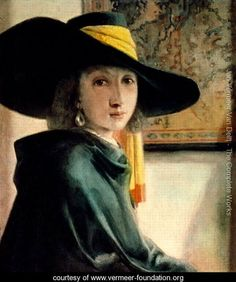 (Dutch) Girl in an Antique Costume by Johannes Vermeer. We have not seen this painting before as a Vermeer work? Johannes Vermeer, Delft, Baroque Painting, Baroque Art, Rembrandt, Vermeer Paintings, Oil Paintings, Renaissance, Dutch Golden Age