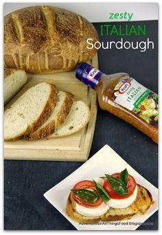 Homemade Zesty Italian Sourdough Bread recipe #FoodDeservesDelicious  #SoFab #shop