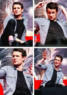 Matt Smith-Aww his hair is starting to grow out again and it looks so cute!