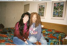 Myrna Smith and me.  This was taken in Florida at an Elvis event. Myrna was a member of the Sweet Inspirations. They sang backup for Elvis.