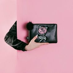 The Rosemary Clutch  W/ an embroidered rose  Valfre.com #valfre