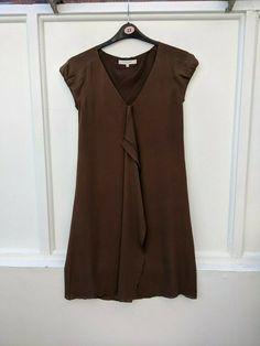 Silk Dress, Dresses For Sale, Dresser, Cocktail, Short Sleeve Dresses, Brown, Party, Ebay, Fashion