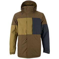 Burton Mens Snowboard Jacket Sutton True Black Woody Hickory