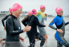 A group of women run into the chilly waters off Nantasket Beach on July 13 for a Swim Across America fundraising event. Along with two other Swim Across America events at Boston Harbor and Harvard University, the half-mile swim at Nantasket Beach helped raise $300,000 for #cancer research. #SAA