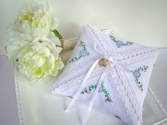 Ring Bearer Pillow Ring Pillow Wedding Ringbearer by TwiningVines, $40.00