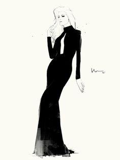 Fashion in Black by Floyd Grey, via Behance