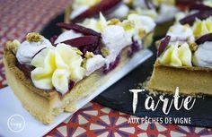 Retrouvez la recette de la tarte aux pêches de Vigne ! Parfait pour cet été !  Par ici : http://www.cupy.fr/recipe-items/tarte-aux-peches-de-vigne/  #cupy #tarte #recette #recipe #facile #diplomate #crème #pêche #vigne #tours #pâtisserie #dessert #idée #gourmandise #food #foodie #couleur #blog #blogueuse #culinaire #fit #fun #cuisine #rapide