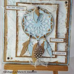 Nytt kort med #drømmefanger #scrapping #kortlaging #mariannedesign #dies #scrapomania #papercraft #paper