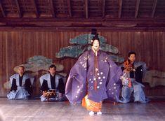 Performance of Noh at Itsukushima Jinja (Itsukushima Jinja), Hiroshima Prefecture, Japan