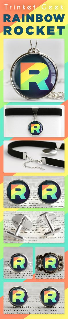 78c20799 Pokemon Rainbow Rocket Jewelry #pokemon #nintendo #videogame #lgbt #gaming  My Pokemon. Trinket Geek