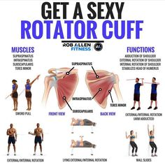 Sorry, there is nothing sexy about your rotator cuff... BUT its health is absolutely vital in maximising the performance of your more aesthetically pleasing muscles. It is composed of 4 muscles around your shoulder. As a whole they compress your humerus into the shoulder socket. They also abduct your arm, internally and externally rotate your humerus at the shoulder joint. Lower your risk of injury by warming up your rotator cuff muscles. The exercises above are a good place to start.