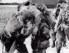 US Army paratroopers preparing for their historic D-Day jump.